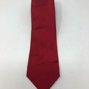 Tommy Hilfiger Red/Blue Solid Silk Tie 58 x 3